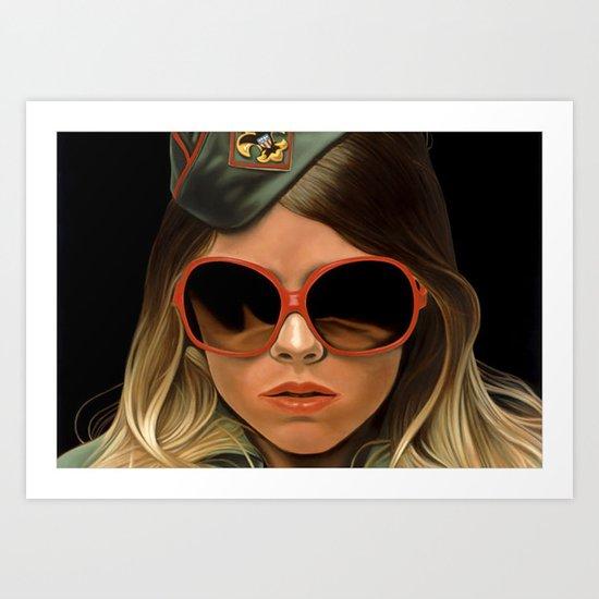 Scout Girl Art Print
