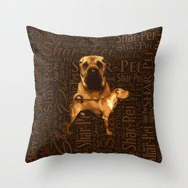Shar-Pei Throw Pillow