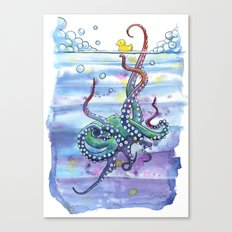 Bath Time Octopus Canvas Print