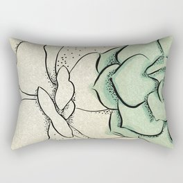 Zen Succulent Garden Art Rectangular Pillow