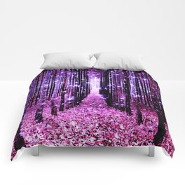 Magical Forest Pink & Purple Comforters
