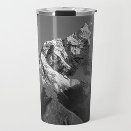 Moon Over Pioneer Peak B&W Travel Mug