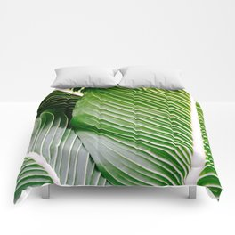 Big Leaves - Tropical Nature Photography Comforters