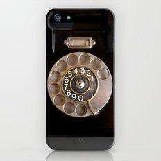OLD BLACK PHONE iPhone (5, 5s) Slim Case