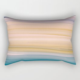Oil Brush Strokes in Soft Pastel Earth Tones Rectangular Pillow