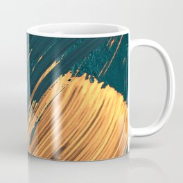 Brush Strokes Painterly Abstract - Gold Coffee Mug