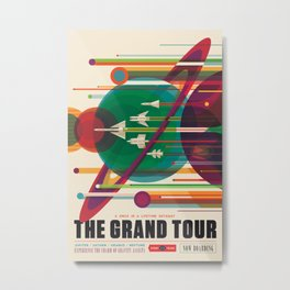 NASA Retro Space Travel Poster The Grand Tour Metal Print