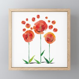 The poppy's bonfire (of emotions and petals) Framed Mini Art Print