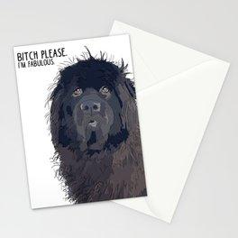 Bitch Please.  I'm Fabulous.  Newfoundland Dog. Stationery Cards