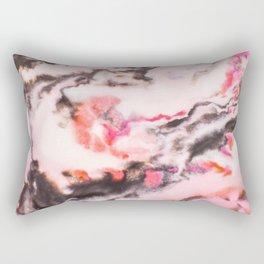 Modern marble Pink Rectangular Pillow