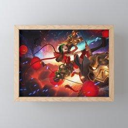 Firecracker Jinx League of Legends Framed Mini Art Print