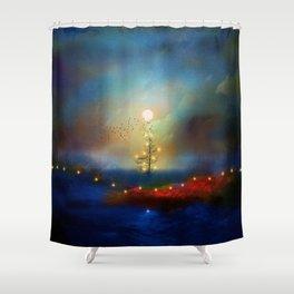 A beautiful Christmas Shower Curtain