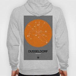 Dusseldorf Orange Subway Map Hoody