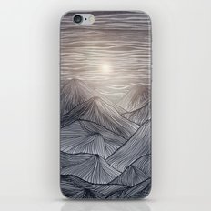 Lines in the mountains X iPhone & iPod Skin
