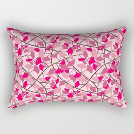 Ginkgo Leaves in Vibrant Hot Pink Tones Rectangular Pillow