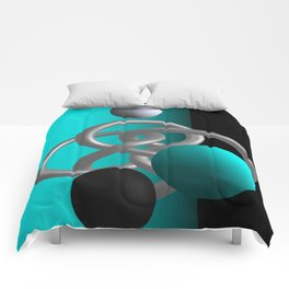 escaped -3of3- turquoise Comforters
