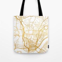 CINCINNATI OHIO CITY STREET MAP ART Tote Bag