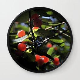 Jane's Garden - Sunkissed Red Berries Wall Clock