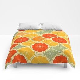 Summer Citrus Slices Comforters