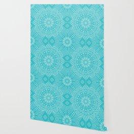 Teal mandala Wallpaper