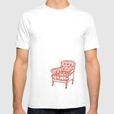 Red Chair Mens Fitted Tee White MEDIUM