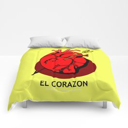 El Corazon Mexican Loteria Pop Art Comforters