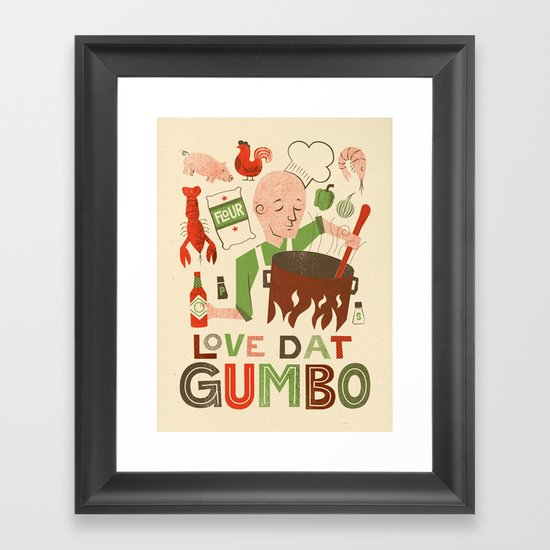 Love Dat Gumbo Framed Art Print