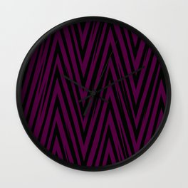 Geometric lines teal/lightpink Wall Clock