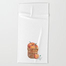 Autumn Basket of Pumpkins Beach Towel