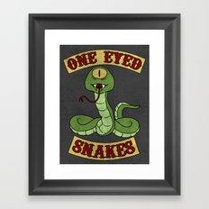 One Eyed Snakes Framed Art Print