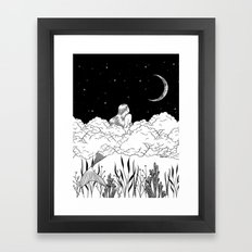 Moon River Framed Art Print