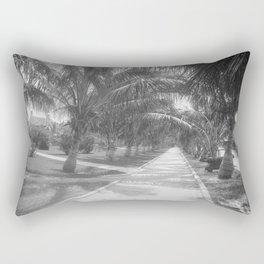 Vintage Black & White Palm Tree Trail Photograph (1897) Rectangular Pillow