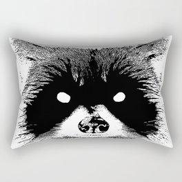 Black Metal Raccoon Rectangular Pillow