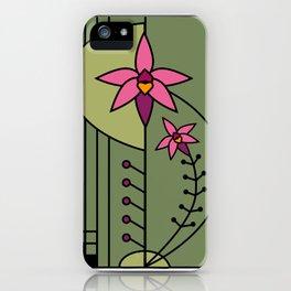 Art Deco Native Orchid iPhone Case