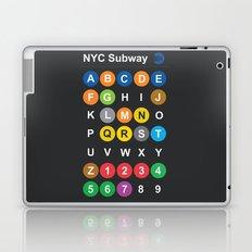 New York City subway alphabet map - dark version Laptop & iPad Skin