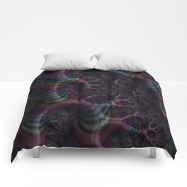 Branching Rainbow Fractal Comforters