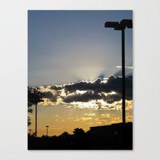 Urban Lot Sunrise Canvas Print