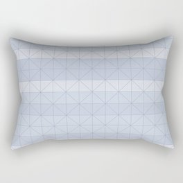 Geometric pattern light blue Rectangular Pillow