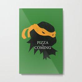 Pizza Time Metal Print