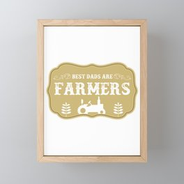 Funny Farmers Dad product Gift For Christmas Framed Mini Art Print