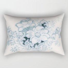 Vintage Flower Flow Rectangular Pillow