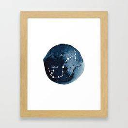 Scorpius Zodiac Constellation Framed Art Print
