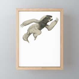 Sloth Sprinter track and field sprint runner  sport Framed Mini Art Print