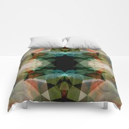 Geometric Textured Abstract  Comforters