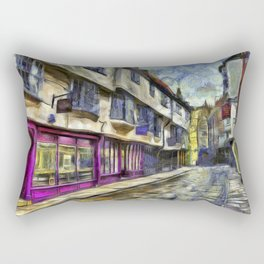 The Shambles York Van Gogh Rectangular Pillow