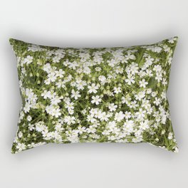 Stitchwort Stellaria Wild Flowers Rectangular Pillow