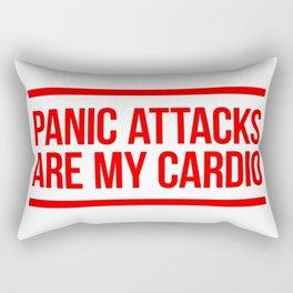 Panic Attacks Are My Cardio Rectangular Pillow
