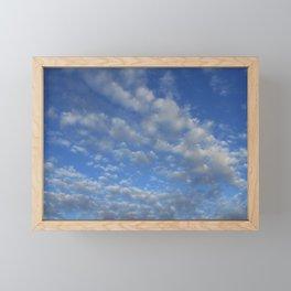 Cloudy sky Framed Mini Art Print
