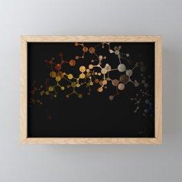 Metallic Molecule Framed Mini Art Print