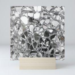 Silver Mirrored Mosaic Mini Art Print